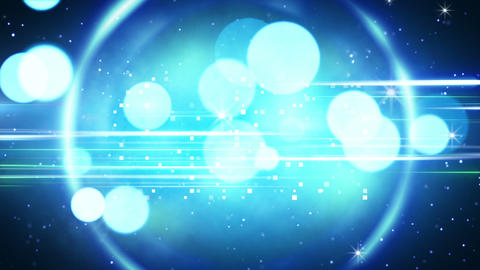 blue circles and glares loopable background Animation