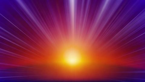 orange blue rays of light loop background Stock Video Footage