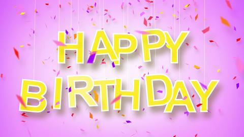 happy birthday greeting loop Stock Video Footage
