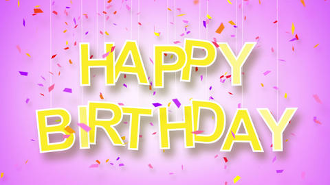 happy birthday greeting loop Animation