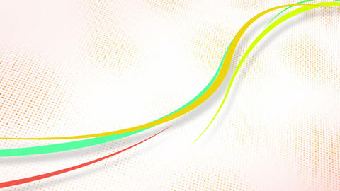 curvy colorful lines loop Stock Video Footage