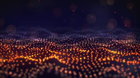 glow particle field loop Stock Video Footage