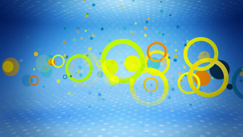 colorful circles on blue loop Animation