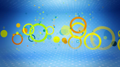 colorful circles on blue loop Stock Video Footage