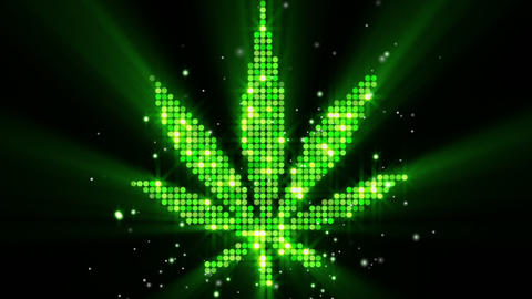 cannabis leaf shape last 10s loop Animation