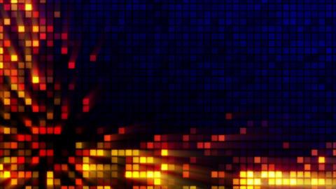 digital squares tech loop three variants Stock Video Footage