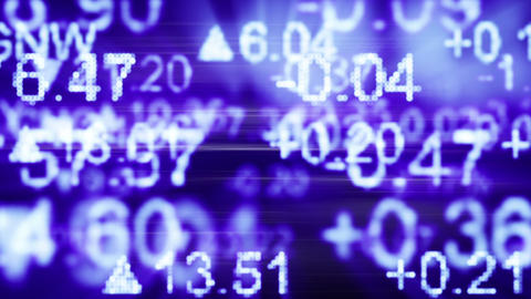 stock market quotes blue seamless loop background Stock Video Footage