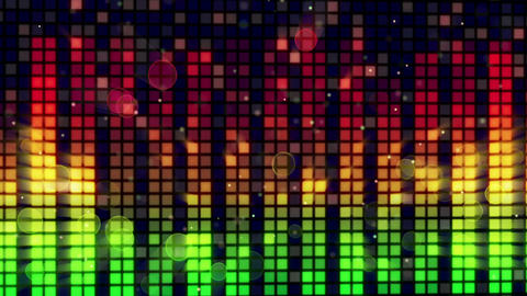 sound level meter equalizer loopable background Stock Video Footage