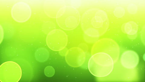 green bokeh circles loop background Stock Video Footage