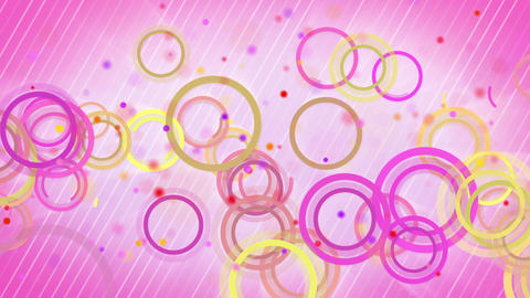 circles lines pink yellow loop background Animation