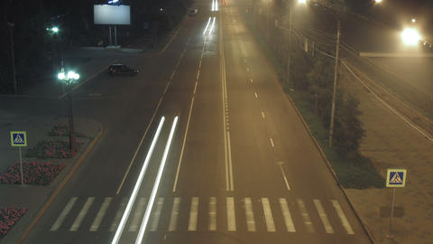 timelapse traffic light streaks at night Footage