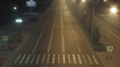timelapse traffic light streaks at night Stock Video Footage