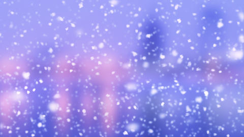 turbulent snowfall slowmotion loop Animation