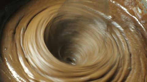 Mixing chocolate cake Stock Video Footage
