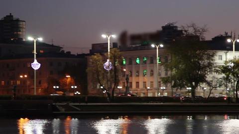 Night view of Yekaterinburg Footage