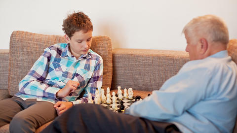 The Game of Chess Stock Video Footage