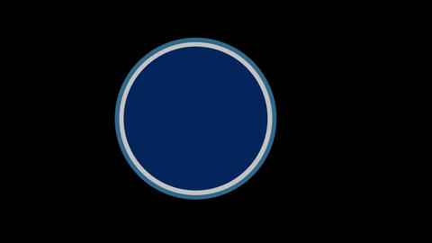 Circle w Outline Stock Video Footage
