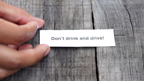 Don't Drink And Drive stock footage