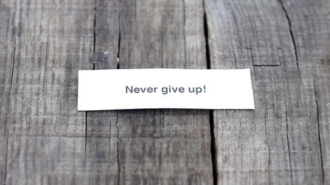 Never give up Stock Video Footage