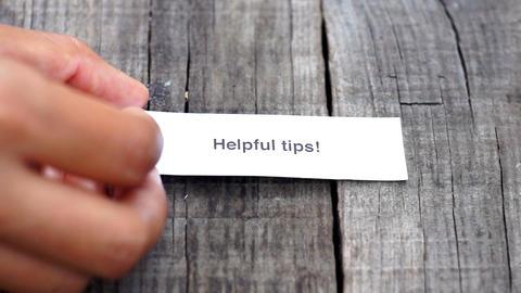 Helpful Tips Stock Video Footage