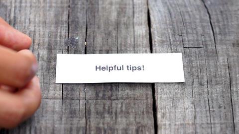 Helpful Tips Footage