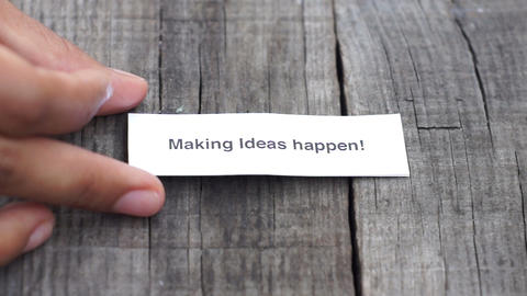 Making Ideas happen Footage