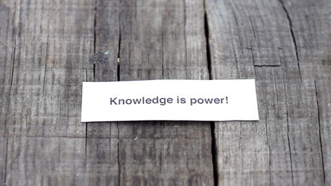 Knowledge is Power Stock Video Footage
