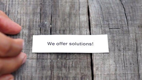 We offer solutions Footage