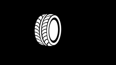 Tire Dropping Stock Video Footage