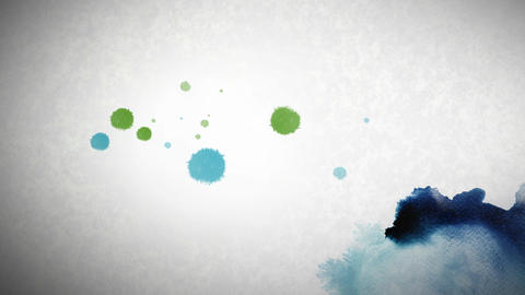 Ink Dots png Stock Video Footage