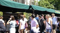 Large crowd at London Borough Market, UK, LONDON Stock Video Footage