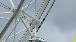 Close-up view of London Eye capsule with passengers, UK,... Stock Video Footage