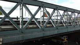 LONDON Hungerford Bridge 7c Stock Video Footage