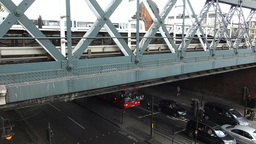 LONDON Hungerford Bridge 7c Stock Video Footage