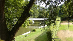View of River Cherwell from Magdalen Bridge.OX RIV Stock Video Footage
