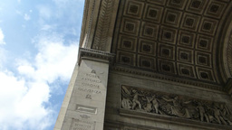 MURAL AND STONEWORK CARVINGS ON ARC DE TRIOMPHE (P Stock Video Footage