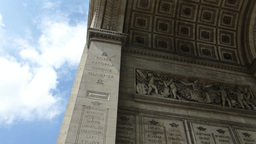 MURAL AND STONEWORK CARVINGS ON ARC DE TRIOMPHE (P stock footage