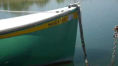 green boat Stock Video Footage