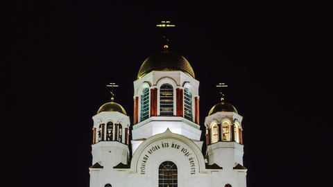 Church on Blood. Ekaterinburg, Russia. Time Lapse Footage