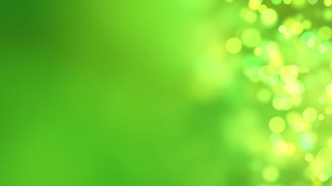 loopable abstract background green bokeh circles Animation