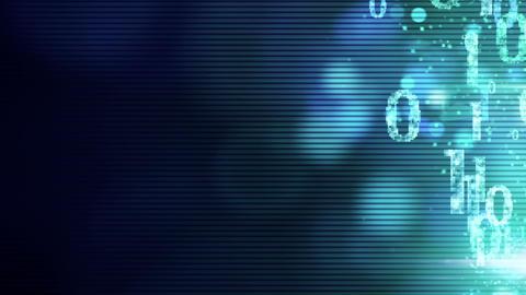 bursting binary symbols zeros and ones loop Stock Video Footage