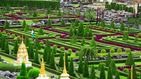 Nong Nooch Tropical Botanical Garden In Thailand stock footage
