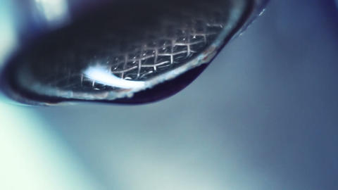 dropping faucet close-up slowmotion Stock Video Footage