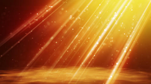 loopable background flying gold particles in light Animation