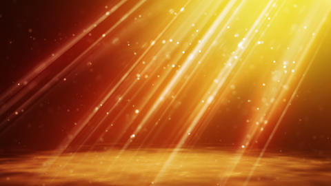 loopable background flying gold particles in light Stock Video Footage