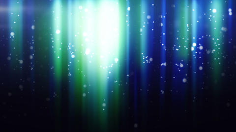 blue particles flying in light beams loop Animation