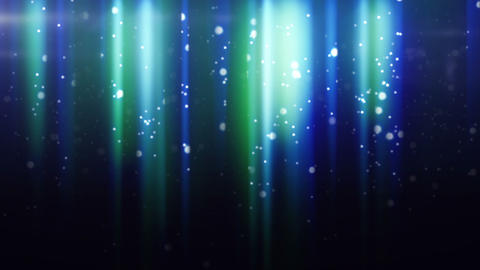 blue particles flying in light beams loop Stock Video Footage