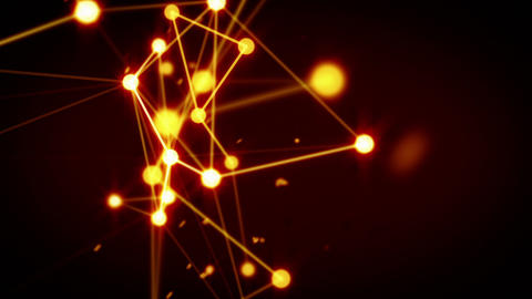 glowing technology network loop background Stock Video Footage