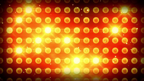 yellow lighting bulbs loop Animation