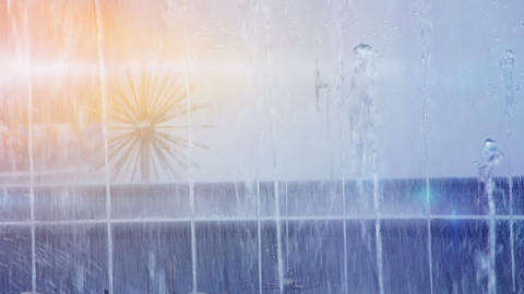 fountain in sunny day Stock Video Footage